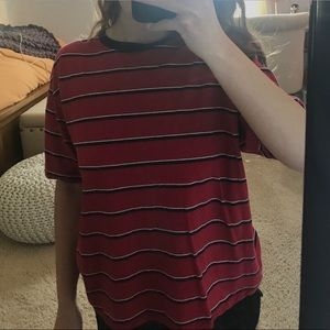 Brandy Melville Striped Ringer T-Shirt